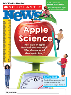 Apple Science Scholastic News magazine.
